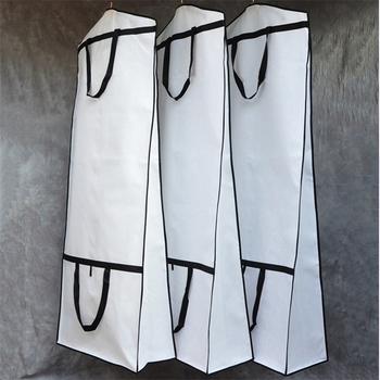 Gruby materiał włókninowy duży rozmiar do sukni ślubnej kurz obudowa ochronna torba pyłoszczelna może być w rozmiarze niestandardowym kolor nadrukowane LOGO tanie i dobre opinie MOTUONILOVE CN (pochodzenie) Yes if you buy more than 100pieces M08033 Stałe PRINTED Poliester bawełna Nowoczesne White Black Red Beige