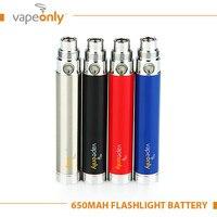 VapeOnly eGo Battery USB Flashlight E Cigarette Battery 650mAh Variable Voltage 3.3V-4.2V e-Cigs Vape Battery with USB Charging