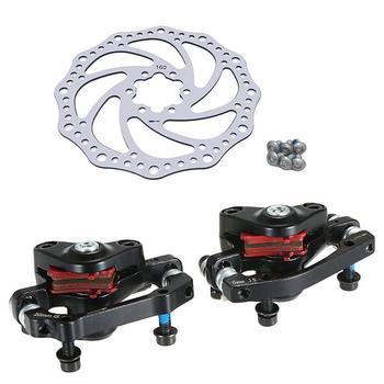 دراجة الفرامل مجموعة الجبلية سبائك الألومنيوم MTB الدراجة الدوار آلة قابلة للطي الجبهة الخلفية مكبح قرصي مجموعة أجزاء الدراجة 160 ملليمتر