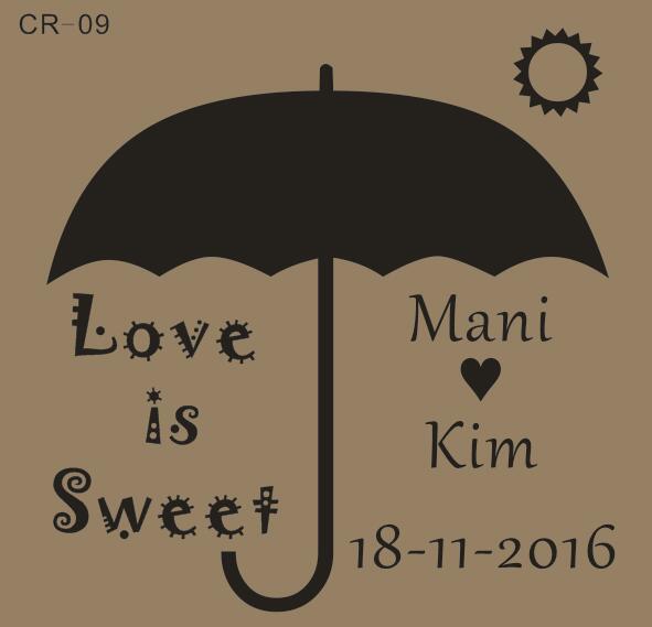 0ab6947eacb1e US $25.89 |Free Shipping Umbrella Wedding Stamp 2
