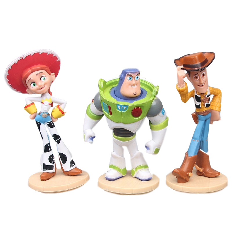 3pcs/set Disney Pixar Toy Story 4 3 Buzz Lightyear Woody Jessie Action Figure Model 10CM Dolls Toys Christmas Gifts For Kids Boy