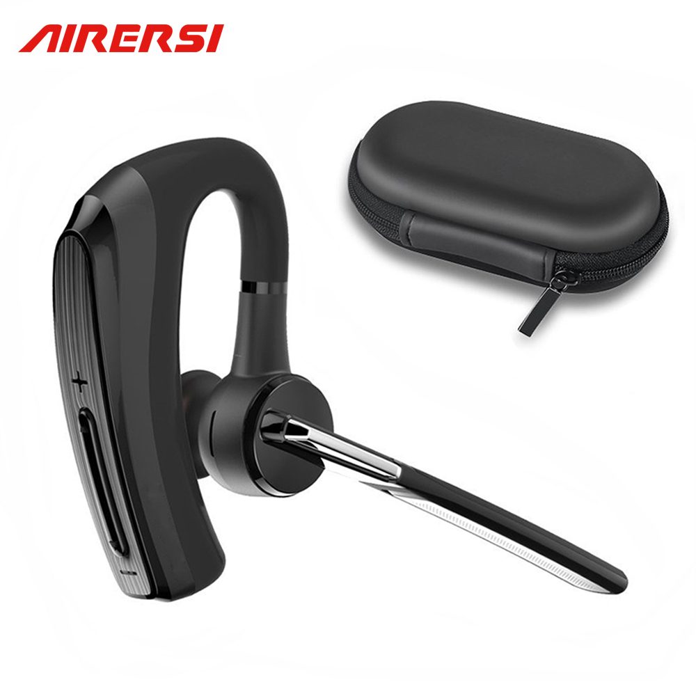 Newest Business Earphone BH820 smart car call Wireless Bluetooth Headset headphones with Microphone hands-free and Storage Box airersi k6 business bluetooth headset smart car call wireless earphone with microphone hands free and headphones storage box