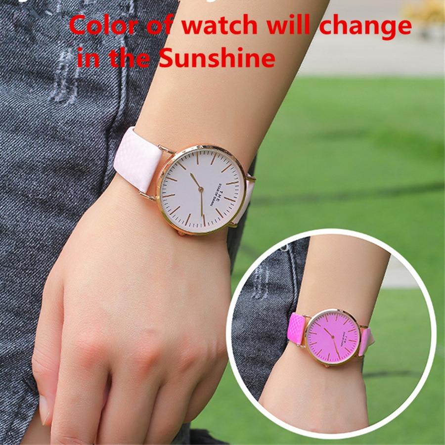 Magic Children Watch Color Change In The Sunlight New Design Magical Child Girl Boy Wrist Watches Quartz Clock Fashion Unique