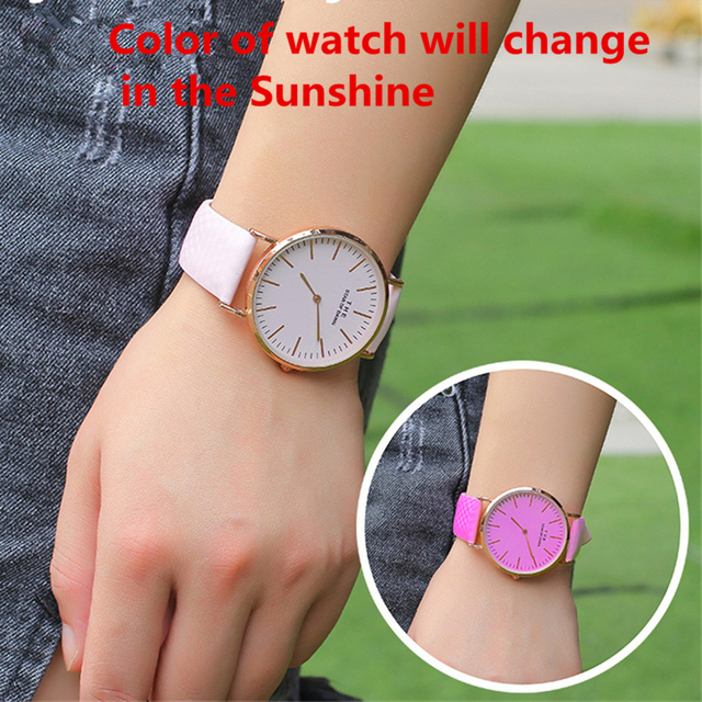 Magic Children Watch Color Change in the Sunlight New Design Magical Child Girl