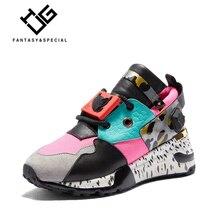 IGU Sneakers Women Genuine Leather Shoes Females Platform Shoes Ladies Flats Harajuku Punk Shoes Creeper Girls Chaussure Femme все цены