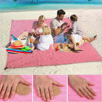 Magie strand matte sand kostenloser matte strand klapp strand matte sandstrandmatten im freien wasserdichte tragbare strand decke camping picknick matte