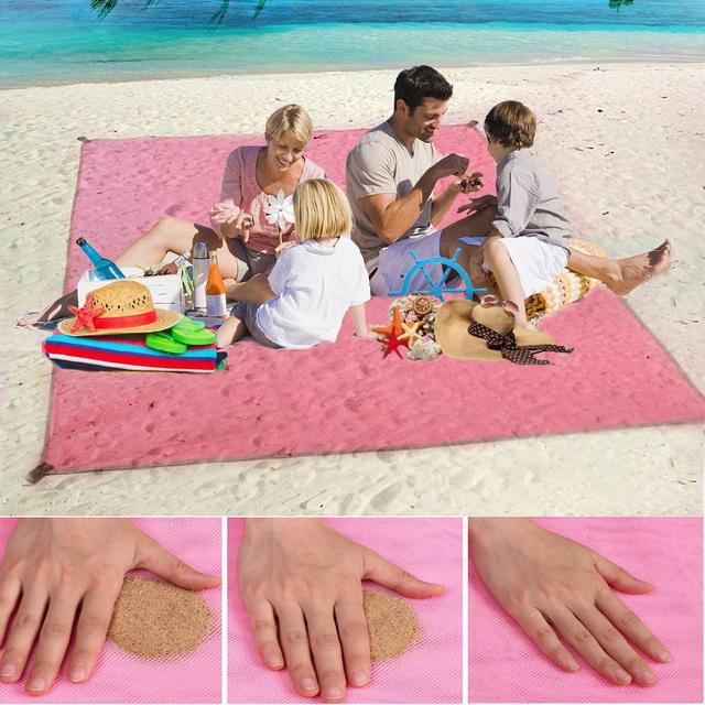 magic beach mat sand free mat beach folding beach mat sandless outdoor waterproof portable beach blanket camping picnic mat