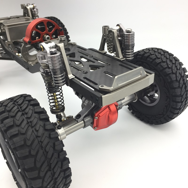 1/10 CNC Marco de Aluminio Y Carbono AXIAL SCX10 Chasis 313mm ...