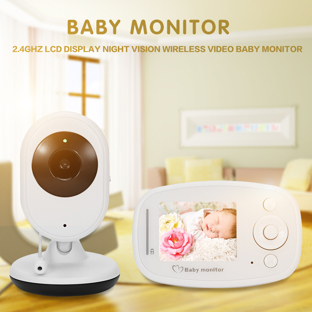 imágenes para Bebé Monitor Inalámbrico Bebé Monitor de Vídeo Digital, Cámara de Visión Nocturna Audio Música Temperatura Pantalla LCD Radio Monitor Niñera