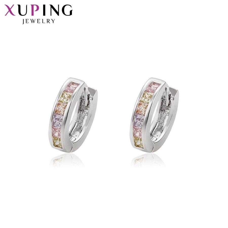11,11 сделок Xuping Простые Модные серьги-обручи для Для женщин Jewelry увлекательный подарок на день матери M35-2005
