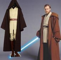 Free shipping Star Wars Costume Jedi Master Obi Wan/Ben Kenobi Cosplay Tunic Suit Costume Star Wars Cosplay Costume