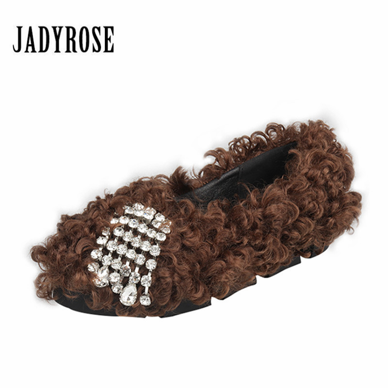 Jady Rose Women Flat Shoes Casual Espadrilles Slip On Loafers Fashion Fur Boat Shoes Creepers Platform Ladies Moccasin Flats women fashion handmade lace espadrilles slip on casual canvas loafers ladies flat platform shoes