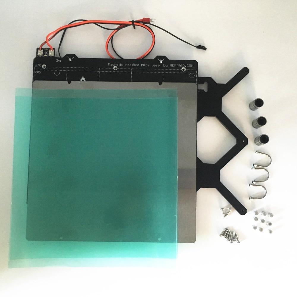 Reprap Prusa i3 mk3 3d imprimante chauffée lit kit complet, avec PCB aimants lit, Y transport, tôle d'acier, PEI feuille, vis et entretoises
