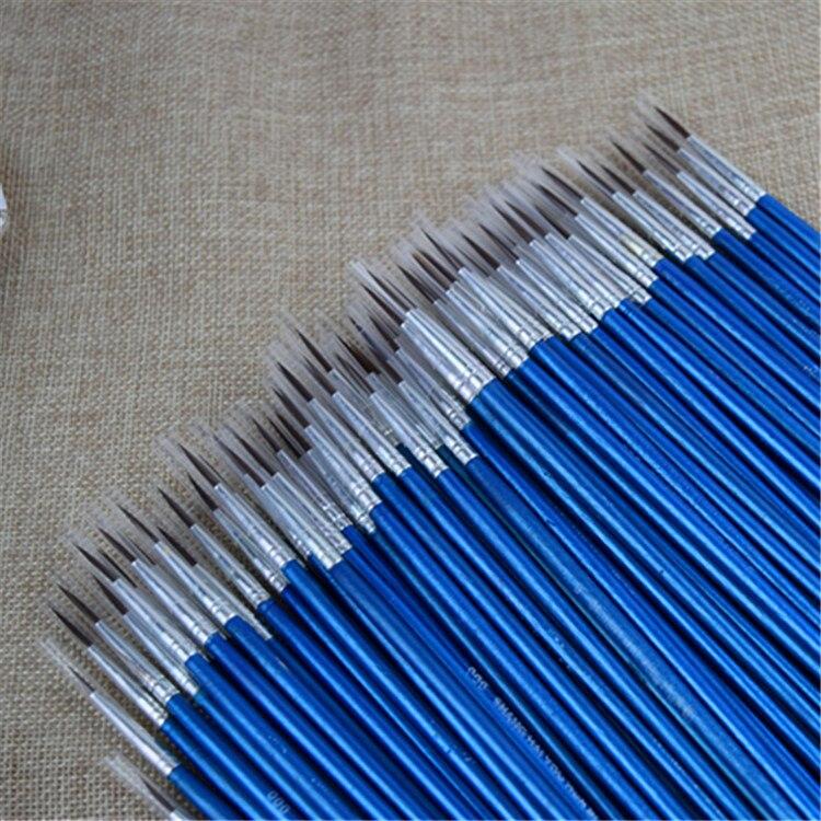 pintura de náilon detalhe escovas acrílicas em miniatura novo