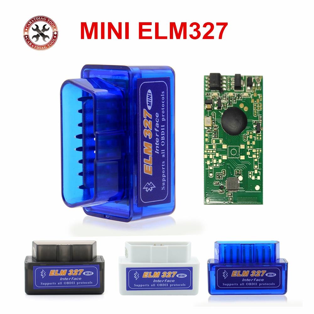 Автомобильный диагностический инструмент Mini ELM327 Bluetooth V2.1 OBD2 работает на Android Torque/PC v 2,1 адаптер BT