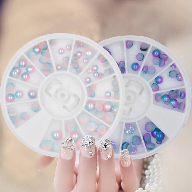BlinkinGel Flat Back Pearls 3mm Nueva Sirena Nails Perlas Resina Nail - Arte de uñas - foto 3