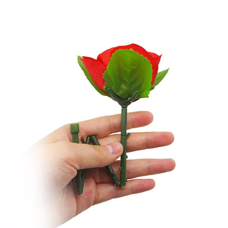 1Pc Folding Rose/Rose Aparecendo Truques de Mágica Flor Aparecendo Close Up Magic Kids Stage Rua Ilusão Gimmick Props magia Brinquedos