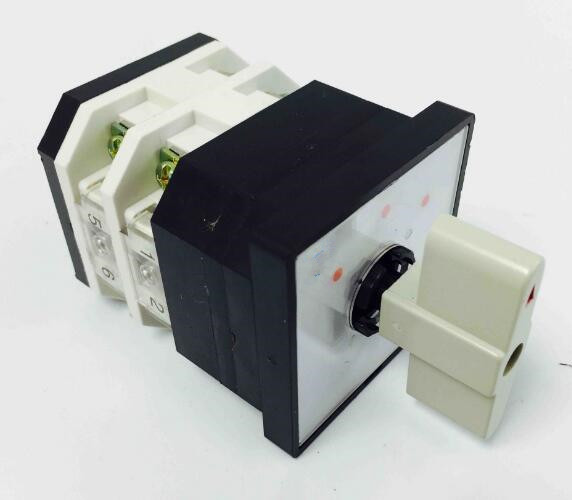 Rotary switch 3 position LW12-16/2 universal switch 16A 2 poles 8 Terminal white rotary changeover cam switch silver contact load circuit breaker switch ac ui 660v ith 100a on off 3 poles 3 phases 3no 2 position universal rotary cam changeover switch