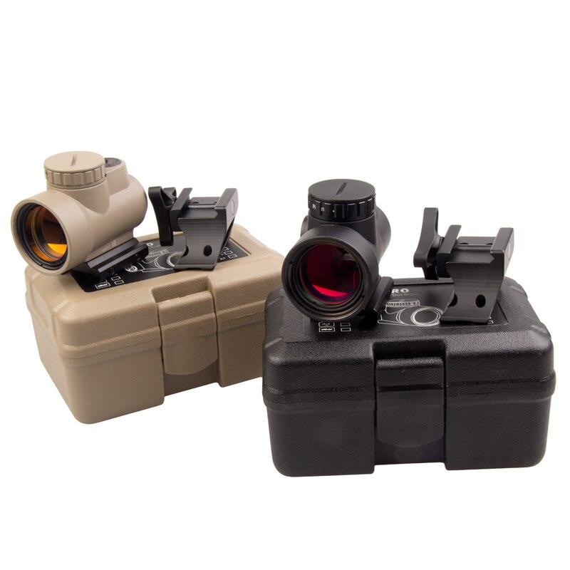 Tactique 1x Airsoft point rouge viseur portée 20mm Rail Mount collimateur point rouge Base de vue chasse portée de tir