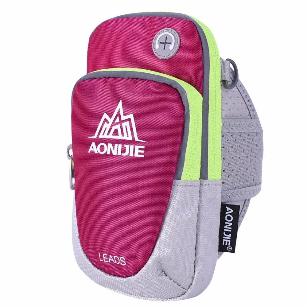 Prix pour AONIJIE Femmes Hommes Courir Arm Pack Léger Sports de Plein Air Racing Randonnée Camping Alpinisme Gym Fitness Mobile Téléphone Sac
