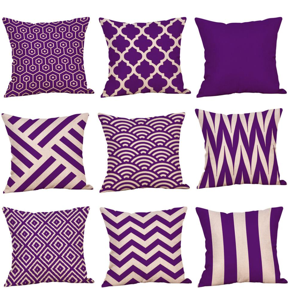 Relieving Purple Glowing Mandala Cushion Cover Boho Geometric Cotton Linen Throw Pillow Case Purple Series Decorative Pillowsfor Sofa Seat Cushion Cover Beddingoutlet Pink houzz-03 Purple Throw Pillows