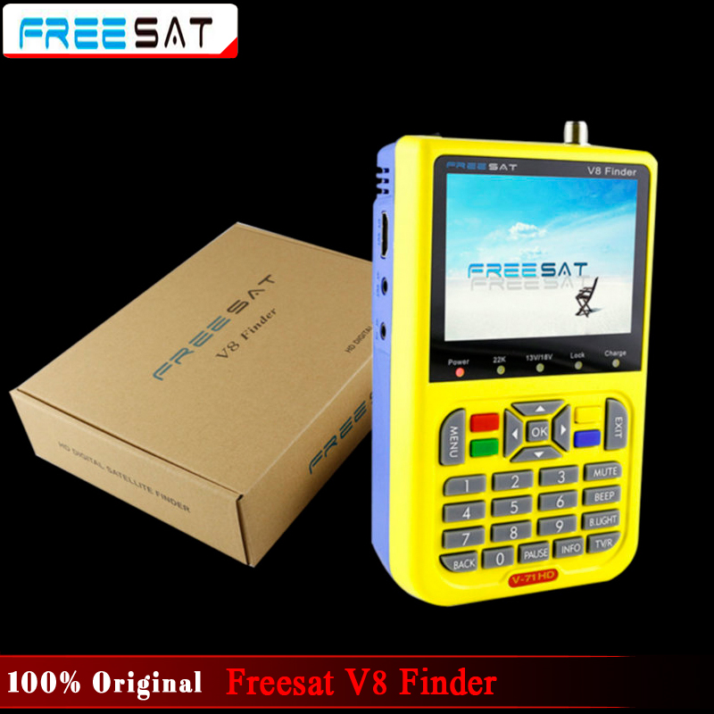100% Original Freesat V8 Finder HD DVB-S2 High Definition Satellite Finder MPEG-2 MPEG-4 Freesat satellite Finder V8