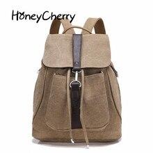 Ретро мода досуг холст рюкзак сумка рюкзак модные женские рюкзаки для девочек Сумка