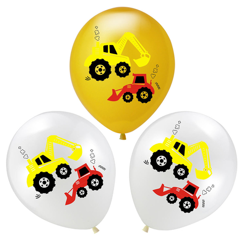 YORIWOO Cartoon Air Balloons Cars Fire Truck Balloon Confetti Baloons Children Birthday Party Decorations Kids Baby Shower Boy Lahore