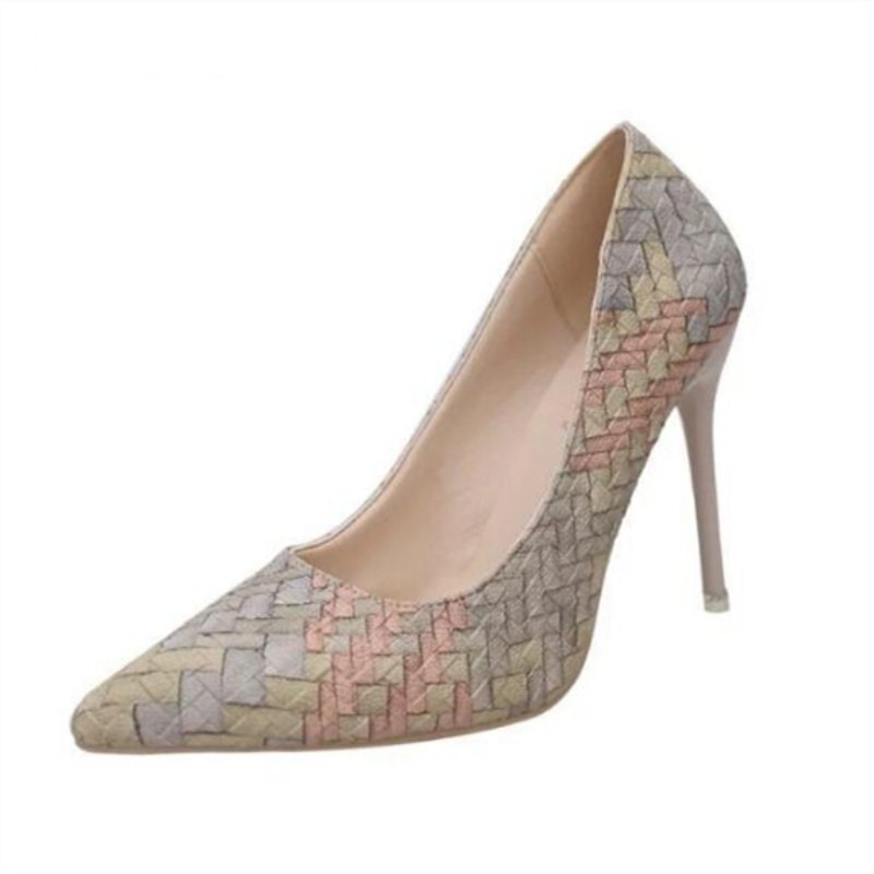 SPRING and autumn new high heels banquet boutique with high heels pointed shallow mouth trend women 39 s sexy wedding shoes in Women 39 s Pumps from Shoes