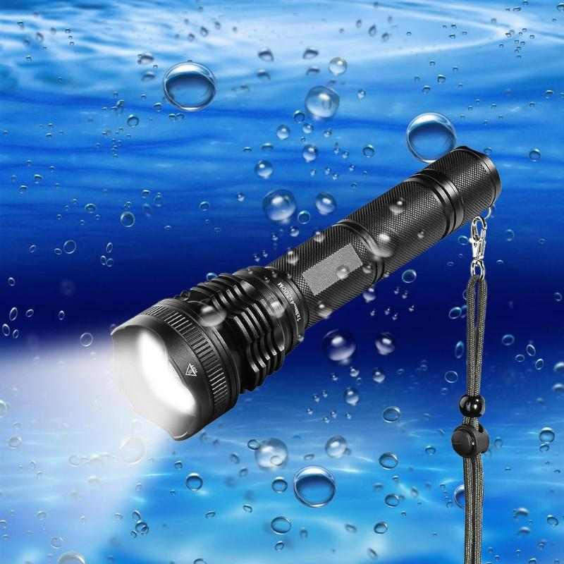 XHP50 3800lm LED Waterproof Portable Flashlight Outdoor Camping Diving Illumination Expl ...