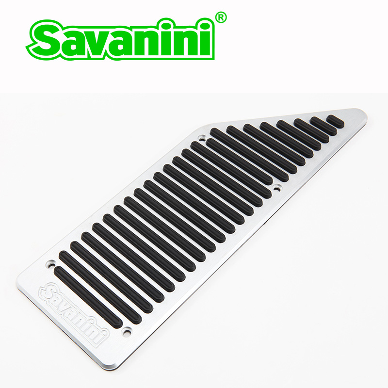 Savanini автомобиль подножка тормоза газа педаль акселератора комплект для Buick Encore и Chevrolet Rveo/Trax авто! Нет необходимости в сверлении - Название цвета: Footrest pedal