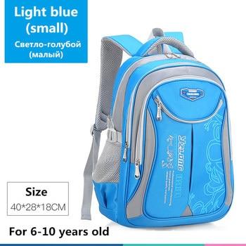 2020 hot new children school bags for teenagers boys girls big capacity school backpack waterproof satchel kids book bag mochila - Small-Light blue