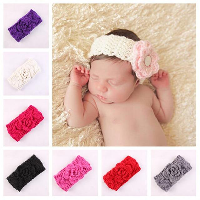 fb612bba5c37 1 pcs Kids Baby Wool Headband Infants Baby Girls Knitted Crochet ...