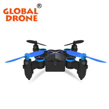 Global Drone Mini RC Quadcopter HD Camera Pocket Drone WiFi FPV Folding Drone Foldable Phone Control Video Photo Helicopter
