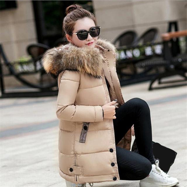 Winter Jacket Women Big Fur Hooded Parka Long Coats Cotton Padded Ladies Winter Coat Women Warm Thicken Jaqueta Feminina Inverno 3