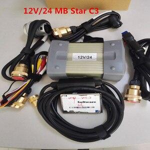 Image 1 - MB Stern C3 OBD2 scanner star diagnosis c3 mit voller kabel mb star c3 software HDD für sd verbinden DHL freies