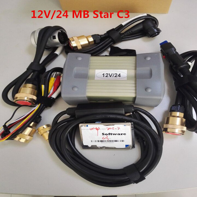 MB Stern C3 OBD2 scanner star diagnosis c3 mit voller kabel mb star c3 software HDD für sd verbinden DHL freies