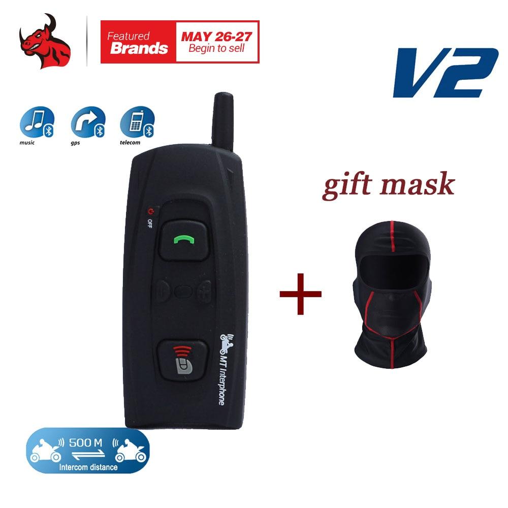 VNETPHONE 1200M for 2 Riders Bluetooth Intercom Full Duplex Wireless Motorcycle Helmet Interphone Headset BT Intercom Headset