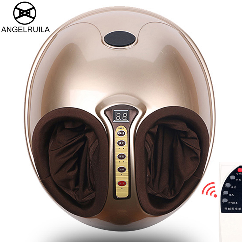 AngelRuila Electric Foot Massage Machine Reflexology Infrared Feet Massager With heating Shiatsu Reflexology Vibrating Roller kanglang electric heated shiatsu air pressure leg foot massager machine reflexology foot massage vibration home massage device