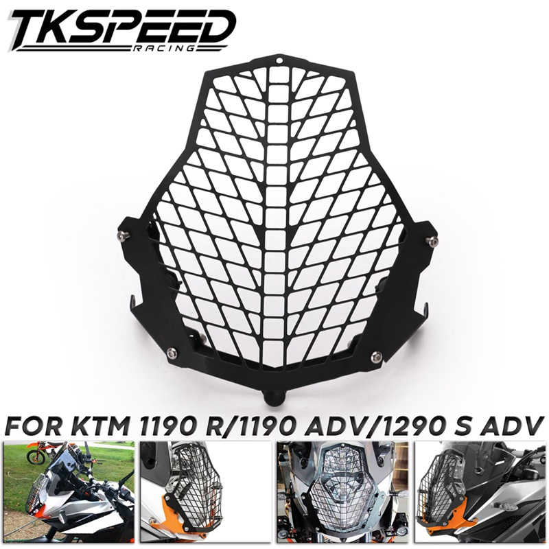 Black Super Adventure Front Lamp Motorcycle Headlight Guard Protector Cover For KTM 1190 R 1290