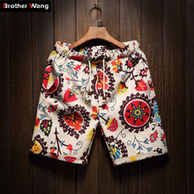 Men's Beach Shorts new fashion Linen Leisure shorts Loose Straight Comfortable Bermuda Men summer shorts Brand Large size M-5XL(China)