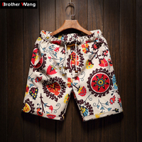 Men S Beach Shorts New Fashion Linen Leisure Shorts Loose Straight Comfortable Bermuda Men Summer Shorts
