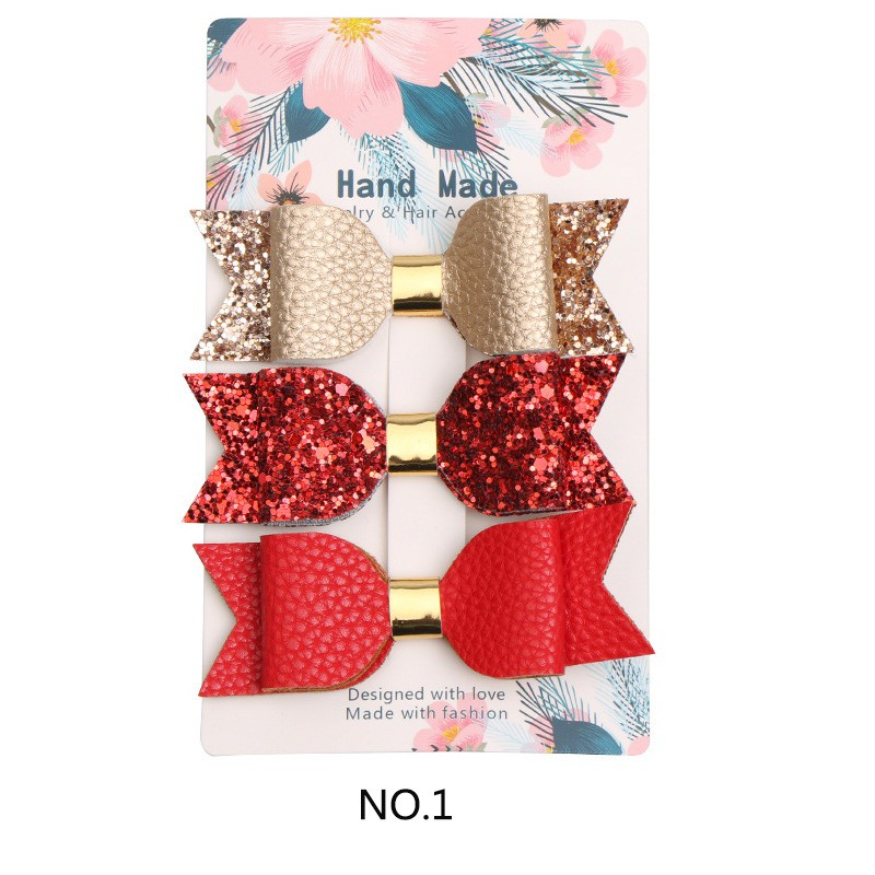 3 Pcs New Fashion Girls Hair Clips Women Girls Sequin Big Bowknot Barrette Hairpin Hair Bow Accessories 1set kawaii kids ribbon hair bows accessories barrette hairpin for child girl hair ornaments clips pin hairclip headdress