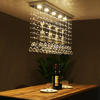 Crystal combination led Ceiling Light League restaurant LED crystal restaurant dining table Crystal light ceiling lamps ZA