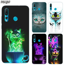 Alice in Wonderland Cat Soft Hull Shell Case For Huawei Nova 2 Plus 2S 3 3i 4 TPU Printed Pattern Riverdale Cover