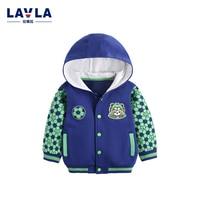 Lavla 2016 Baby Boys Jackets Children Hooded Football Printed Boy Outerwear 9M 6T Kids Windbreaker Spring