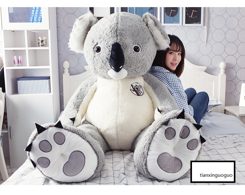 huge plush koala bear toy koala doll soft hug pillow gift about 140cm 0013