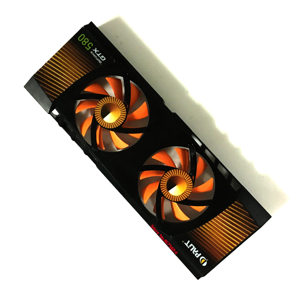 GPU cooler graphics card cooling fan PLA08015B12HH 12V 0.35A VGA Video Card Cooling Palit GTX580 2pcs computer vga gpu cooler fans dual rx580 graphics card fan for asus dual rx580 4g 8g asic bitcoin miner video cards cooling