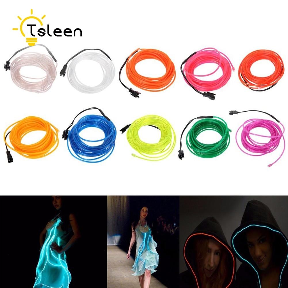TSLEEN 2M 3M 5M Elastyczny przewód EL LED Neon Tube Glow Strobing - Oświetlenie LED - Zdjęcie 6