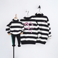 HT2025 Spring Sweatshirts Winter Mother Baby Father Costume Family Matching Outfits Autumn Thicker Clothes Warm Kids Outwear
